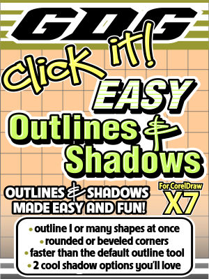 GDG Click It! Contours and Shadows for X7 Includes FREE BONUS Macro GDG Contour Quick