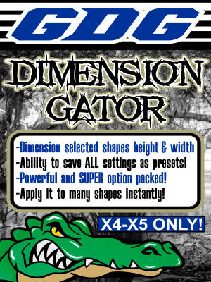 GDG Dimension Gator for X4 or X5