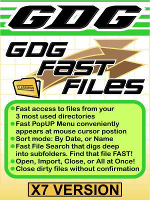 GDG Fast Files for X7