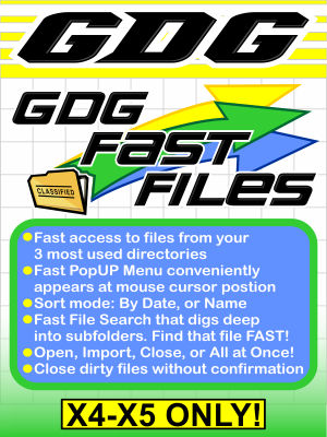 GDG Fast Files for X5 or X4
