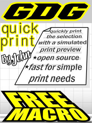 GDG Quick Print for X5 and below