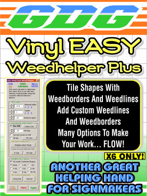 GDG Vinyl Easy Weed Helper Plus for X6