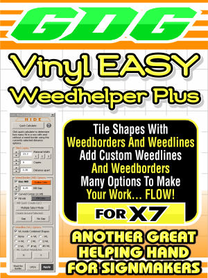 GDG Vinyl EASY Weed Helper Plus for X7