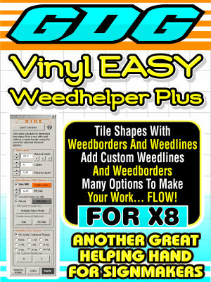 GDG Vinyl Easy Weed Helper Plus for X8