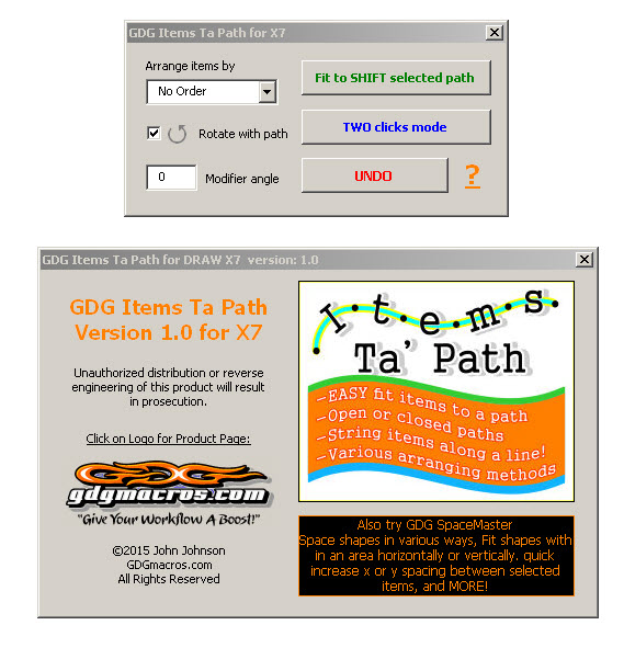 items to path X7 coreldraw macro form image