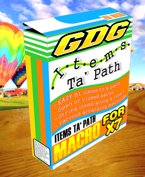 items to path X7 coreldraw macro box image