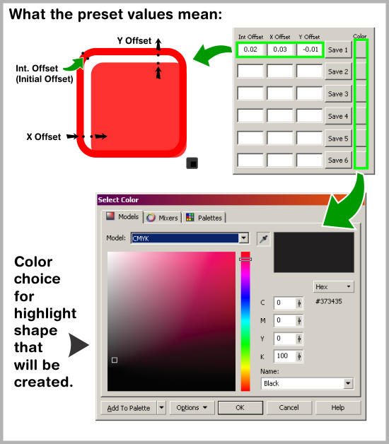 simple highlights corel draw macro pic 3