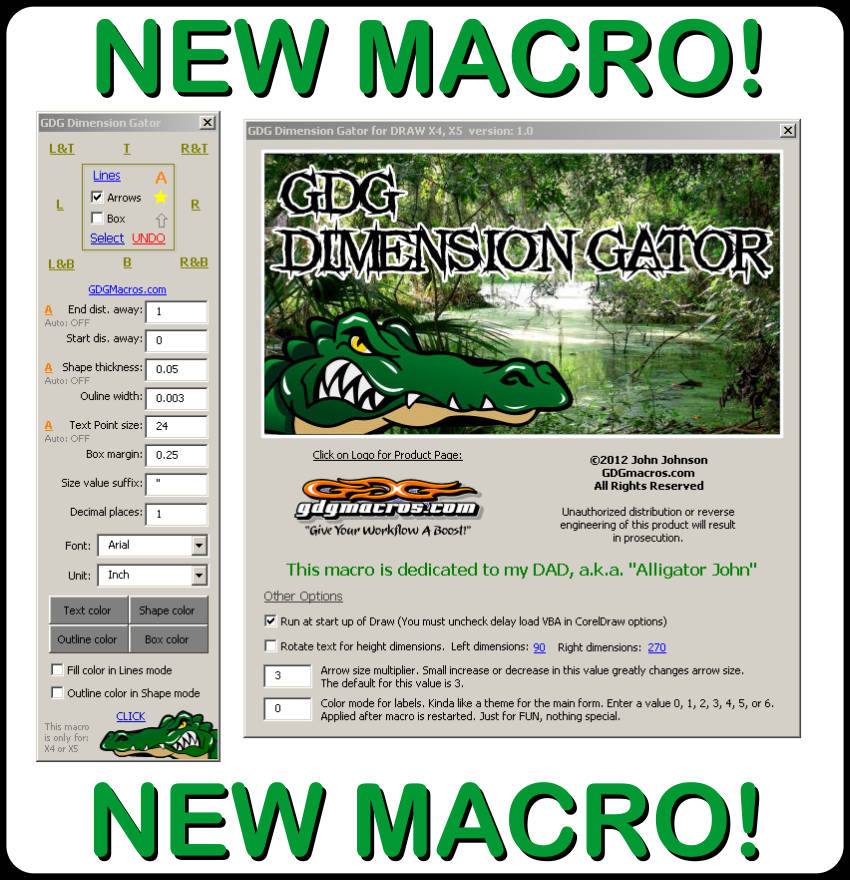 gdg dimension gator macro